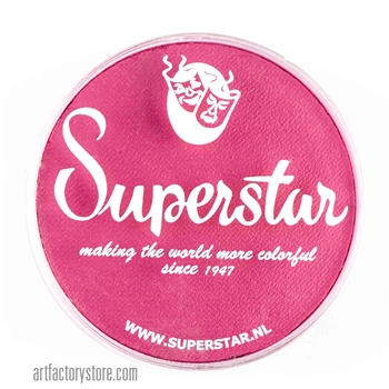 Superstar fuchsia, girly and fun shade of pink for princess and fairy designs.  45 gr jar for face and body painting