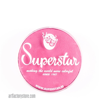 Superstar bubblegum pink, sweet shade of light pink for princess, fairy, butterfly designs in a 16 gr jar for face and body painting
