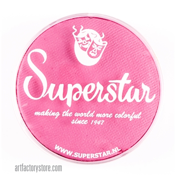 Superstar bubblegum pink, sweet shade of light pink for princess, fairy, butterfly designs in a  45 gr jar for face and body painting