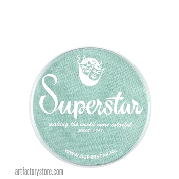 Superstar pastel green, light greenish blue in color for under the sea designs  in a 16 gr jar for face and body painting
