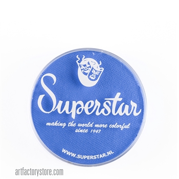 Superstar light blue, crisp sky blue in a 16 gr jar for face and body painting