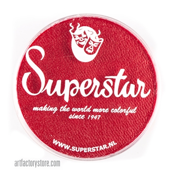 Superstar carmine red is great for hearts and holiday designs in a 45 gr jar for face and body painting
