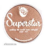 Superstar golden green shimmer is a nutty brown with subtle shimmer in a 45 gr jar for face and body painting