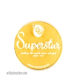 Superstar interferenz yellow is a bright rich yellow with subtle shimmer in 16 gr jar for face and body painting