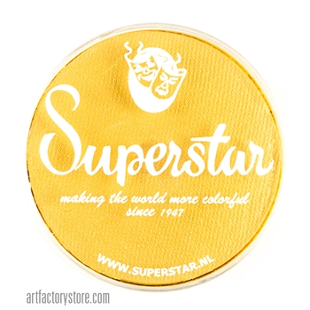 Superstar interferenz yellow shimmer is a bright rich yellow with subtle shimmer in a 45 gr jar for face and body painting
