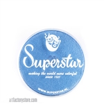 Superstar mystic blue shimmer is a rich medium blue in 16 gr jar for face and body painting