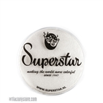 Superstar silver white shimmer is a soft white with a hint of silver and subtle shimmer in 16 gr jar for face and body painting