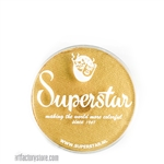 Superstar gold finch shimmer is a soft yellowish gold with subtle shimmer in 16 gr jar for face and body painting