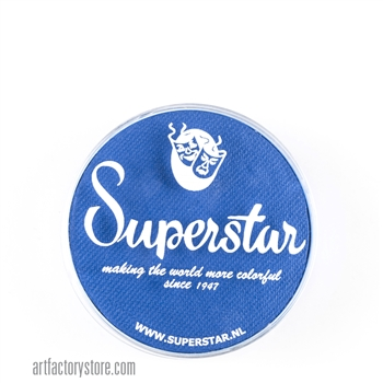 Superstar brilliant blue for superhero masks in a 16 gr jar for face and body painting