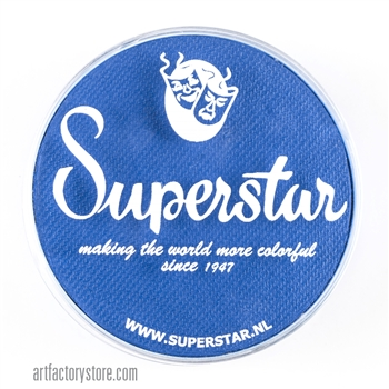 Superstar brilliant blue for superhero masks in a 45 gr jar for face and body painting