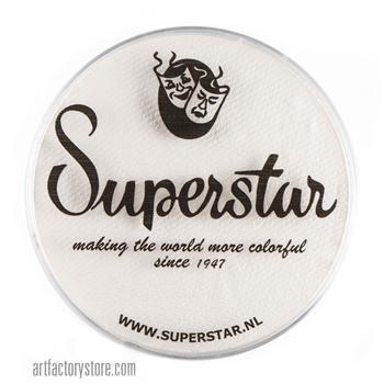 Superstar line white is extra bright and great for line work or as a base in a 45 gr jar for face and body painting
