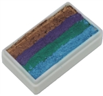Tag Peacock Shimmer one stroke split cake