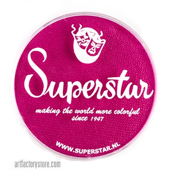 Superstar majestic magenta is a deep and rich shade of pink in a 45 gr jar for face and body painting