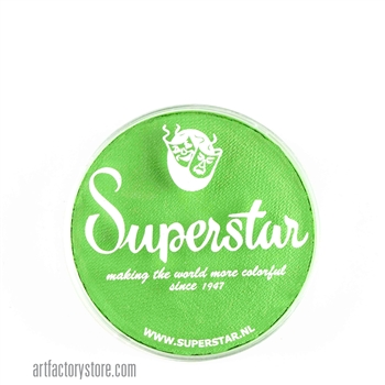 Superstar poison green is light and bright in 16 gr jar for face and body painting