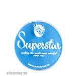 Superstar london sky blue shimmer is a soft, shimmery light blue in 16 gr jar for face and body painting