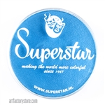 Superstar london sky blue shimmer is a soft, shimmery light blue in a 45 gr jar for face and body painting