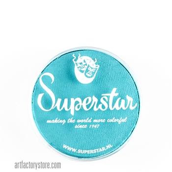 Superstar minty is an icy shade of blue in 16 gr jar for face and body painting