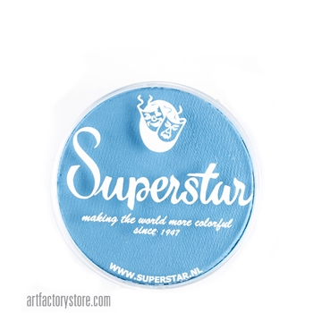 Superstar magic blue is soft powder blue in 16 gr jar for face and body painting