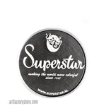 Superstar Graphite shimmer is a dark steel black with a metallic like finish in 16 gr jar for face and body painting