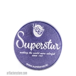 Superstar crystal jubilee shimmer is a medium shade of purple with subtle shimmer in 16 gr jar for face and body painting