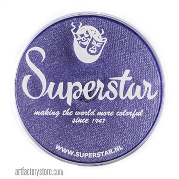 Superstar crystal jubilee shimmer is a medium shade of purple with subtle shimmer in a 45 gr jar for face and body painting