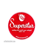 Superstar valentine shimmer is bright, rich red with subtle shimmer in 16 gr jar for face and body painting
