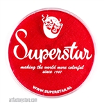 Superstar valentine shimmer is a bright, rich red with subtle shimmer in a 45 gr jar for face and body painting