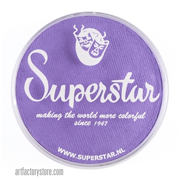 Superstar la-laland purple is a darker shade of lilac in a 45 gr jar for face and body painting