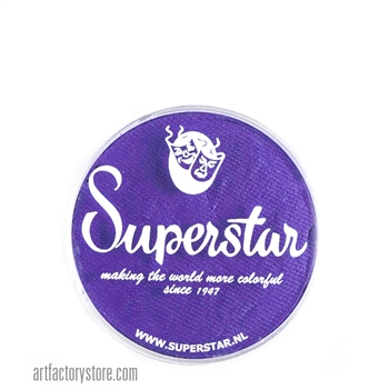 Superstar purple rain is a dark rich shade of purple in 16 gr jar for face and body painting