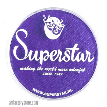 Superstar purple rain is a dark rich shade of purple in a 45 gr jar for face and body painting