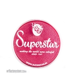 Superstar cyclamen shimmer is a bright pink with red undertones and subtle shimmer in 16 gr jar for face and body painting