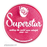 Superstar cyclamen shimmer is a bright pink with red undertones and subtle shimmer in a 45 gr jar for face and body painting