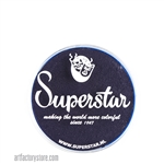 Superstar ink blue is a super dark and rich, looks like ink with hints of blue and purple in 16 gr jar for face and body painting