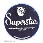 Superstar ink blue is a super dark and rich, looks like ink with hints of blue and purple in a 45 gr jar for face and body painting