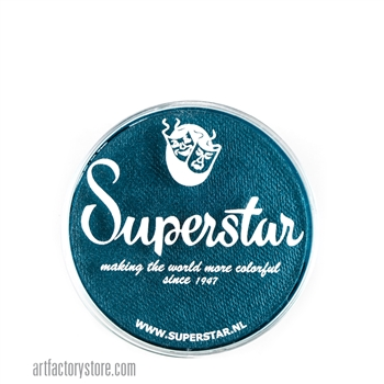 Superstar snow petrol shimmer is a rich dark blue with subtle green undertones in 16 gr jar for face and body painting