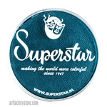 Superstar snow petrol shimmer is a rich dark blue with subtle green undertones in a 45 gr jar for face and body painting