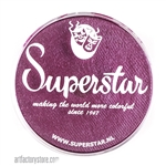 Superstar berry shimmer is a deep rich wine color with purple and red undertones and subtle shimmer in a 45 gr jar for face and body painting