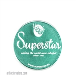Superstar peacock shimmer is a bright, rich green with subtle shimmer in 16 gr jar for face and body painting