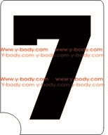 Sport Number 7 Adhesive Stencil for Face & Body Art