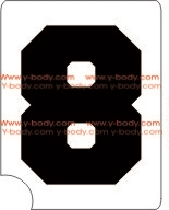 Sport Number 8 Adhesive Stencil for Face & Body Art