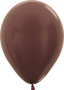 "11"" Metallic Chocolate Balloon"