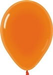 "11"" Crystal Orange Balloons"