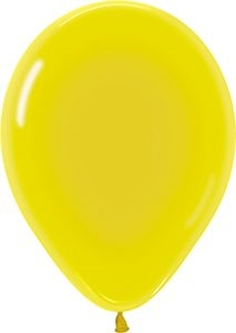 "11"" Crystal Yellow Balloons"
