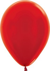 "11"" Metallic Red Balloon"