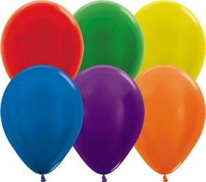 "11"" Metallic Assortment Balloons"