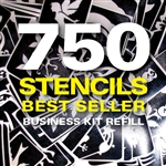 Best-seller banner refill glitter tattoo stencil set.