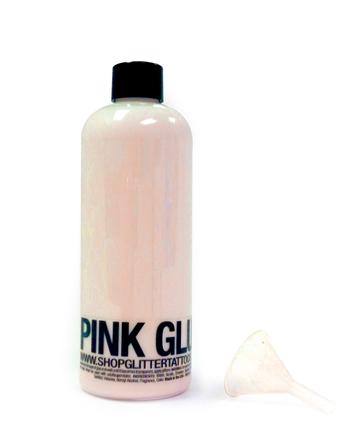 16 oz ybody pink body glue for glitter tattoos for Glitter tattoo glue