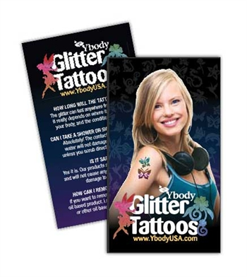 500 Glitter Tattoo Care Cards