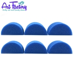 6 half circle  sponges for face painting made by the Art factory