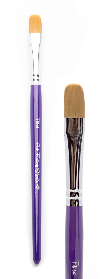 Art Factory Filbert Brush made to create face painting designs such as superhero masks on the fly.